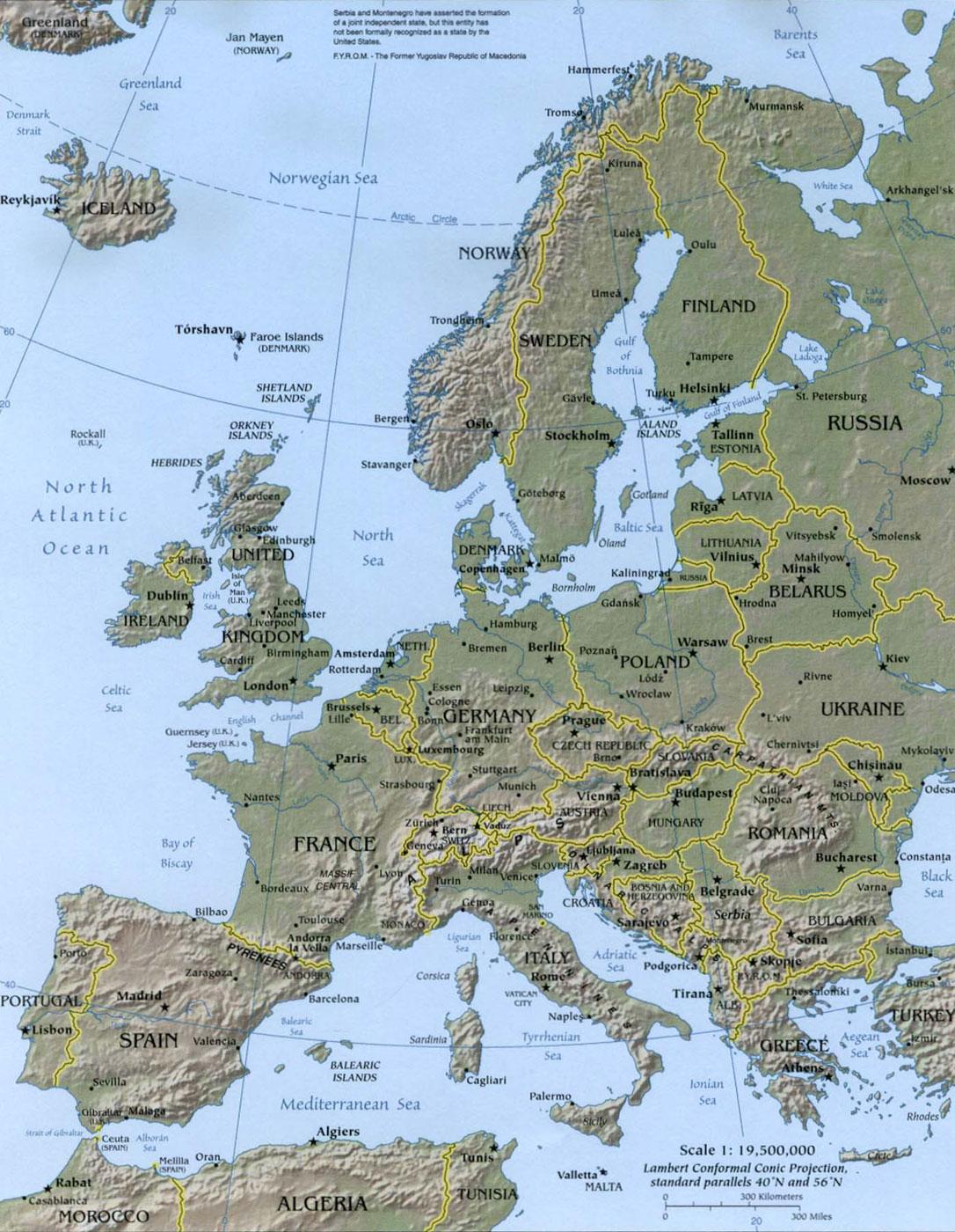 Immagini Cartina Fisica Europa.La Cartina Fisica Dell Europa Destinazione Lavoro