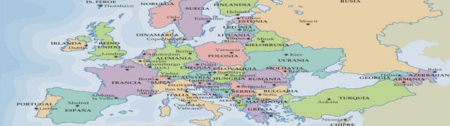 Cartina Europa Politica Aggiornata.La Cartina Politica Dell Europa Destinazione Lavoro