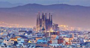 Mappa dei monumenti di Barcellona