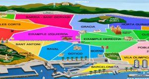 mappa di barcellona