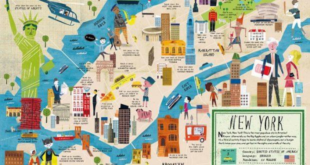 Cartina Londra Con Monumenti.Mappe Di New York Destinazione Lavoro