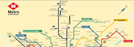 Cartina Metro Barcellona.Mappa Della Metropolitana Di Barcellona Destinazione Lavoro
